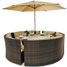 rattan dallas 8 seater sofa dining garden furniture set