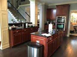 brown kitchen cabinets wall color painted cherry cabinets kitchen makeover tucker