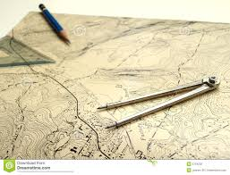 What Is A Topographic Map Topographic Map With Pencil Stock Photography Image 5754232