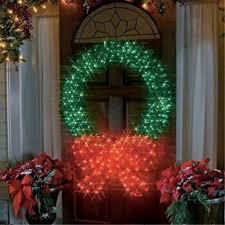lighted christmas wreath large outdoor lighted christmas wreaths 38741 astonbkk