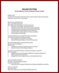 Sample Short Resume by 15 Short And Simple Cv Sendletters Info