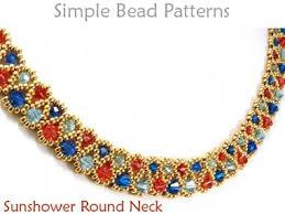 necklace making patterns images Crystal necklace diy beading pattern jewelry making tutorial jpg