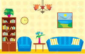 livingroom cartoon drawing clipart living room pencil and in color drawing clipart