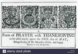 reads a form of prayer with thanksgiving to be ufed yearly upon