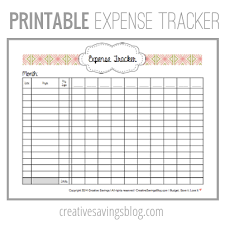 Track My Spending Spreadsheet by This Free Printable Expense Tracker Keeps Tabs On All Your