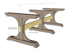 Free Picnic Table Plans 2x6 by Ana White Build A Triple Pedestal Farmhouse Table Free And