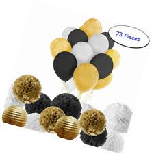 black and gold party decorations paxcoo 73 pcs black and gold party decorations with balloons for