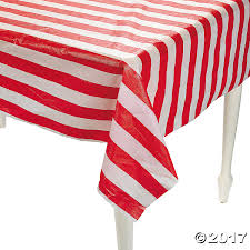 plastic thanksgiving tablecloths red u0026 white striped plastic tablecloth roll