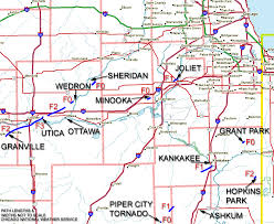 West Chicago Map by April 20th 2004 Illinois Tornado Outbreak