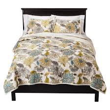 target threshold vintage washed solid green u0026 yellow dutchwax floral quilt king threshold target