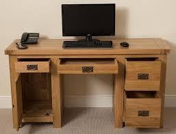 Traditional Computer Desks Desk Small Office Desk With Drawers Solid Wood Pedestal Desk