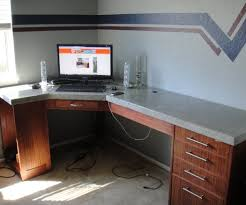 Long Computer Desk by How To Build A Polished Concrete Desk 9 Steps With Pictures
