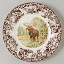 dining charming new moose motif in spode woodland with deer