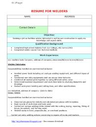 resume examples volunteer work welding resume examples resume for your job application resume template for welders free welders resumes samples download