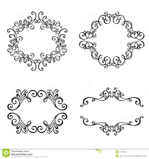 vector decorative ornamental frame for text stock images image