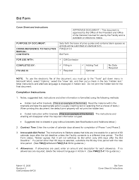 bid proposal template example masir