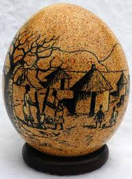 ostrich egg painted home decor market