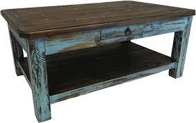 antique wood end tables rustic antique turquoise coffee table turquoise coffeetable