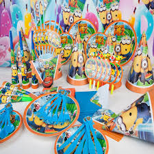Despicable Me Decorations Aliexpress Com Buy Minions Party Supplies Kids Birthday Party