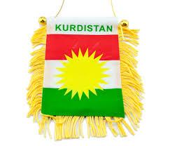 Kurdish Flag Car Interior Mirror Flag Decoration With Suction Cup Zozan