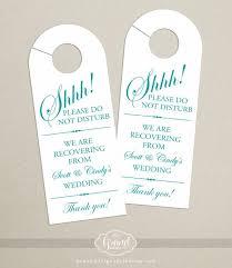 hotel door hanger template set of 10 door hanger for wedding hotel welcome bag do not
