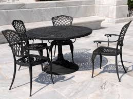 Round Stone Patio Table by Patio Ideas Rod Iron Patio Furniture Coloured Black Over Bright
