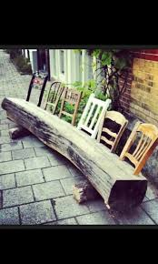 Making Wooden Patio Chairs by Best 25 Chair Bench Ideas On Pinterest Unusual Furniture