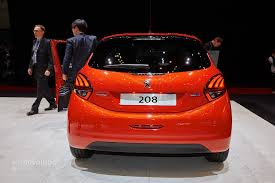 peugeot 208 2015 2015 peugeot 208 thinks blue in geneva with 79 gram eco model