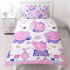 Peppa Pig Toddler Duvet Cover Polyester Peppa Pig Bedding Sets U0026 Duvet Covers For Children Ebay