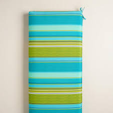 green bench cushion coastal stripe outdoor bench cushion world market