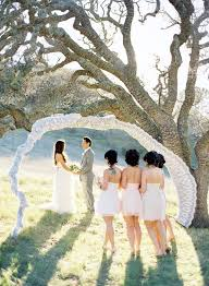 Wedding Ceremony Arch Lace Arch Oak Tree Wedding Ceremony Once Wed