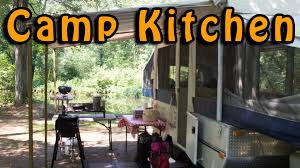 Outdoor Camping Sink Station by My Camp Kitchen Setup Youtube