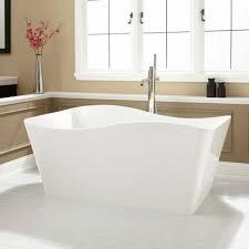 gorgeous bathroom with freestanding tub scheme showcasing pretty