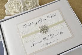 ivory wedding guest book ivory personalised wedding guest book choice of
