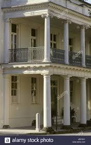 charleston sc south carolina wrought iron railing balcony columns