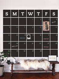 awesome organization ideas using chalkboard wall decals this chalkboard calendar decal with memo is extra useful in an office or a mudroom its large size gives you enough space to write in important events and