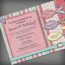 informal slumber party invitation cards features party dress