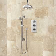 isola thermostatic shower system with rainfall shower hand