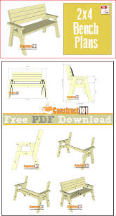 Wood Furniture Plans Free Download by 2x4 Bench Plans Pdf Download 2x4 Bench Bench Plans And Bench