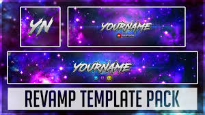 template youtube photoshop cc galaxy rev pack photoshop template youtube banner twitter