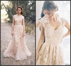 discount bohemia plus size lace wedding dresses deep v neck