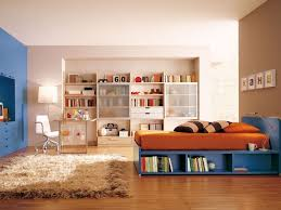 Kids White Bookcase by Kids Room Amazing Boys Room Paint Ideas With Orange Bed On