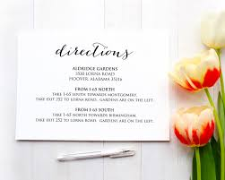 Accommodation Cards For Wedding Invitations Directions Card Insert Wedding Direction Details Card