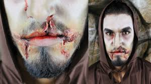 creepy monk halloween makeup tutorial youtube
