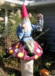 coolest garden gnome on a mushroom costume gnomes halloween
