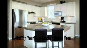 make your own kitchen island design your own kitchen online free youtube