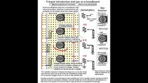 electronics variable resistor trimpot on a breadboard and simple
