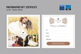 photography gift certificate template photography gift
