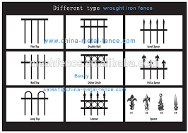 Different Types Of Fencing For Gardens - metal frame material and fencing trellis u0026 gates type wrought iron
