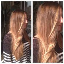 balayage highlights natural blonde hair color hand painted